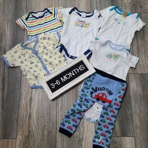 6 Piece Cars Themed Set Onesies and Leggings